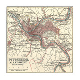 Map of Pittsburgh Prints