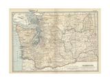 Map of Washington State Poster