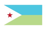 Flag of Djibouti Posters