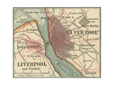Map of Liverpool Posters