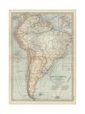 Karte von Südamerika Poster
