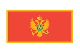 The Flag of Montenegro Print