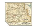 Map of Yosemite National Park Poster