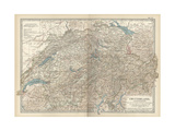 Map of Switzerland and Liechtenstein Prints