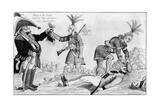Cartoon on the British and Native American Allies Print