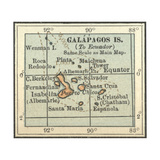 Map of Galapagos Islands Art