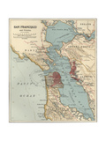 Map of San Francisco Bay Prints