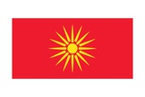 "The ""Starburst Flag"" of Macedonia, a Country in the Southern Balkans, Used from 1992 Art"