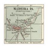 Map of Madeira Island Art