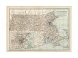 Map of Massachusetts Posters
