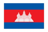 Flag of Cambodia Posters