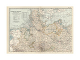 Map of the Northern Part of the German Empire Prints