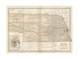 Map of Nebraska with Inset of Omaha Kunstdrucke