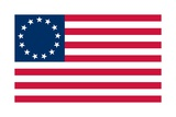 Historical Flag of the United States of America, Betsy Ross Flag, 1776 Prints