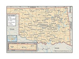 Political Map of Oklahoma Prints
