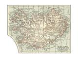 Mapa de Islandia Póster