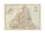 Map of England Prints