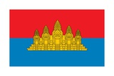 Historical Flag of Cambodia, a Country in Southeast Asia, from 1979 to 1992 Prints