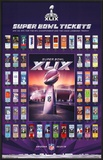 Super Bowl XLIX - Tickets Poster
