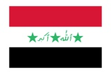 Historical Flag of Iraq, Used from 1991 to 2004 While Saddam Hussein Was in Power Prints