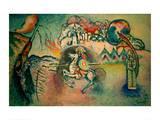 Rider, St George, 1915 Giclée-tryk af Wassily Kandinsky