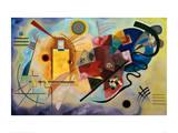 Yellow-Red-Blue, 1925 Giclée-trykk av Wassily Kandinsky