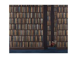 The Book Worm Giclee Print by Rebecca Campbell