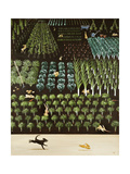 A Trip of Rabbits, 2009 Giclee Print by Rebecca Campbell