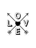 Love Heart Arrows Prints by Brett Wilson