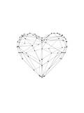 Love Heart Wire Polygon Posters by Brett Wilson
