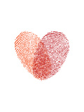 Love Heart Fingerprints Prints by Brett Wilson