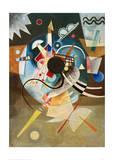 A Centre, 1924 Giclée-tryk af Wassily Kandinsky