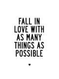 Fall In Love Posters by Brett Wilson