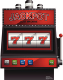 Vegas Slot Machine Lifesize Standup Cardboard Cutouts