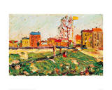 Houses in the Suburbs I, 1901 Giclee Print by Wassily Kandinsky