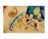 Composition with Trojka Theme, 1911/12 Giclee Print by Wassily Kandinsky