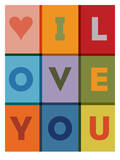 I Love You Posters by Brett Wilson