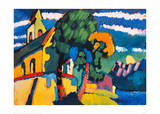 Village Church in Riegsee, Bavaria, 1907 Giclee Print by Wassily Kandinsky
