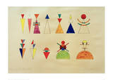Pictures at an Exhibition Figures Image XVI, 1930 Giclee PrintWassily Kandinsky