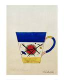 Sketch for a Milk Cup, 1920 Giclée-tryk af Wassily Kandinsky