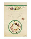 Sketch for a Cup and Saucer, 1920 Giclée-tryk af Wassily Kandinsky