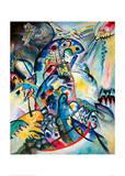 Blue Comb, 1917 Impression giclée par Wassily Kandinsky