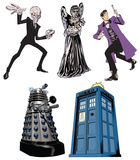 Doctor Who - Mini Comic Standups Package Cardboard Cutouts