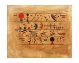 Rows of Symbols, 1931 Lámina giclée por Wassily Kandinsky