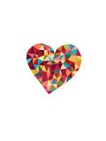 Love Heart Polygon Prints by Brett Wilson