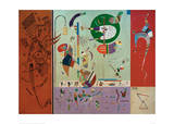 Diverse Parts, 1940 Giclee Print by Wassily Kandinsky