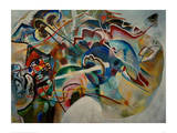 Painting with White Border, 1913 Giclee Print by Wassily Kandinsky