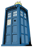 Doctor Who - Tardis Mini Comic Standup Cardboard Cutouts