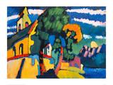 Village Church in Riegsee, Bavaria, 1907 Lámina giclée por Wassily Kandinsky