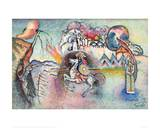 St George the Victorious (Reproduction) Giclée-tryk af Wassily Kandinsky